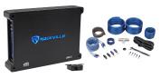 Rockville dB12 2000 Watt/1000w RMS Mono Class D 2Ohm Car Audio Amplifier+Amp Kit
