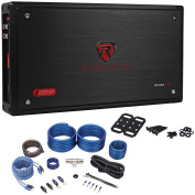 Rockville RXD-T2 Micro Car Amplifier 2400w 2 Channel 2x400W CEA Rated+Amp Kit