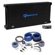 Rockville dB16 8000 Watt/4000w RMS Mono Class D 2Ohm Car Audio Amplifier+Amp Kit
