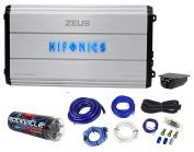 Hifonics Zeus ZXX-3200.1D 3200w RMS Mono Car Audio Amplifier+Amp Kit+Capacitor