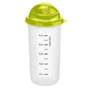 Rotho Rondo Plastic Shaker Drinks Water Milkshake Smoothie Bottle - 0.5 Litre