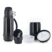6 Pcs Outdoor Flask Food Container Gear Storage Box Bottle Cups Bowl Spoon Set