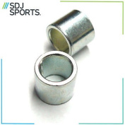 2x 10mm Silver Alloy Scooter Wheel Core Axle Shims Front & Rear New Replacement