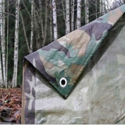 3.5m x 5.4m camouflage tarpaulin waterproof sheet cover ground ground army camo