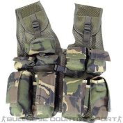 Mil-com Kids Assault Vest British Dpm Woodland Army Military Style Boys Airsoft