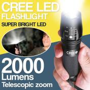 Cree T6 Led Torch Military Zoom Flashlight Spotlight Powerful 2000 Lumen Light