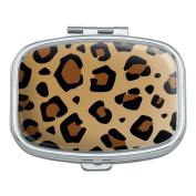 Leopard Print Animal Spots Rectangle Pill Case Trinket Gift Box