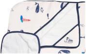 Little Unicorn Cotton Hooded Towel & Wash Cloth Set- Nautical Harbour