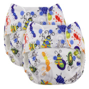 Blueberry One Size Simplex Organic All In One Cloth Nappies, Bundle of 2, Made in USA