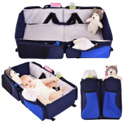 Costzon 3 in 1 Portable Baby Bassinet Nappy Bag , Changing Station with Fitted Sheet, Waterproof Premium Quality