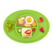 Silicone Baby Plate Safe Mini Feeding Placemat For Toddler,Kids,Infant With Strong Suction , FDA Approved, BPA Free