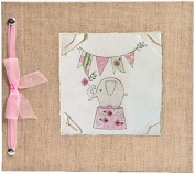 Hugs and Kisses XO Elephant - Pink Baby Memory Book
