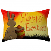 Pillow Case,TOPUNDER Easter Rectangle Toss Hidden Zipper Closure gift
