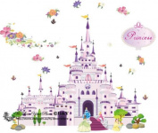 Princess Castle Wall Stickers Removable Mural Decal DIY Home Room Decoration