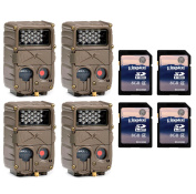 (4) CUDDEBACK E2 Long Range IR Infrared 20 MP Game Hunting Cameras + SD Cards