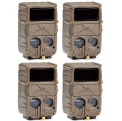 (4) CUDDEBACK E3 Black Flash No Glow Infrared Trail Game Hunting Cameras | 20MP