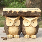 Hi-Line Gift Ltd. Two Owls with Welcome Plant Stand