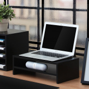 Fitueyes Computer Monitor Stand 42cm 2-Tier Black FDT204201WB