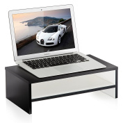 FITUEYES Computer Monitor Riser with Keyboard Storage Space 42cm White 2 Tiers DT204201WW