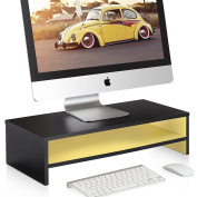 FITUEYES MonitorComputer monitor riser Laptop Stand with keyboard Storage Space,50cm Yellow 2 Tyre DT205401WY