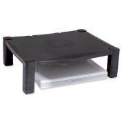 Kantek Single Platform Adjustable Monitor Stand - 27kg Load Capacity - Flat Panel Display Type Supported - Black