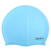 Zodaca Soft Silicone Elastic Flexible Durable Swimming Cap for Kids Child Boy Girl Swim Hat - Light Blue