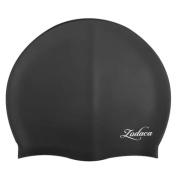 Zodaca Silicone Elastic Flexible Durable New Kids Child Boy Girl Swimming Hat Comfortable Swim Cap Black