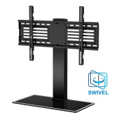 FITUEYES Universal Swivel Mount TV Stand Base for 32 35 40 45 50 55 150cm Flat-Screen Tvs with Height Adjustable TT105001GB