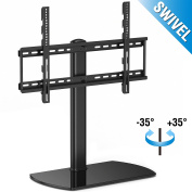 FITUEYES Universal Tabletop TV Stand Base with Swivel Mount for 32 45 50 55 150cm LED LCD Flat screen TVs FTT107002GB