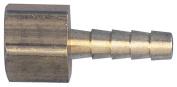 Tru-Flate 21-222 Air Hose Fitting, 0.6cm , FNPT X Barb, 0.6cm ID, Solid Brass