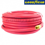 Goodyear 0.6cm inch x 30m Goodyear Rubber Air Compressor Hose w/ Brass Fittings
