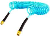 15m Flexible Blue Recoil Air Hose with 0.6cm Fittings Coil Flex