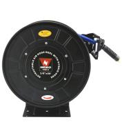 "Neiko Air Compressor Hose Reel 3/8"" x 50' | 300 PSI Secure Lock Retractable Easy Mount"