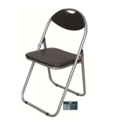 Black Padded Folding Chair Seat Back Rest Chairs Home Garden Furniture