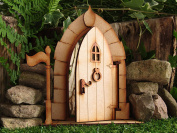 Opening Large Fairy Castle Freestanding Wooden Fairy Door Self Assembly Craft Kit