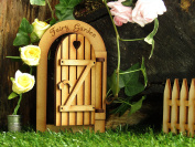 Fairy Garden Gate Opening Fairy Door. Three-Dimensional Opening Fairy Garden Door, Wooden Self Assembly Craft Kit.
