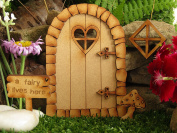 Pebble Heart Fairy Door. Three-Dimensional Self-Assembly Wooden Fairy Door Craft Kit with Fairy Window, Toadstool & Fairy Sign