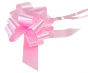 2 x Light Pink 50mm Waterproof Poly Pull Bows