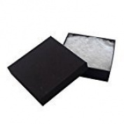 12 Pack Cotton filled Black Matte Paper Cardboard Jewellery Gift and Retail Boxes 3 X 7.6cm X 2.5cm Size by R J Displays