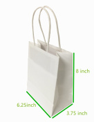 """Metrogalaxy 13cm x 8.3cm X8"""" Small Kraft Paper Bags, Party Bags, Shopping Bags with Handles, Colour"""
