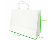 """Metrogalaxy 41cm x 15cm X12"""" Big Kraft Paper Bags, Party Bags, Shopping Bags with Handles, Colour"""
