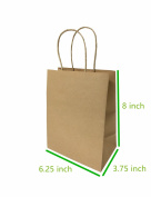 """Metrogalaxy 16cm x 9.5cm X8"""" Small Kraft Paper Bags, Party Bags, Shopping Bags with Handles, Colour"""
