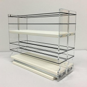 Vertical Spice - 22x2x11 DC - Spice Rack - Narrow Space w/2 Drawers each with 2 Shelves - 24 Spice Capacity - Easy to Instal