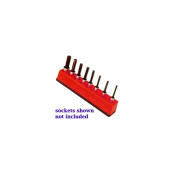 3/8 in. Drive Universal Magnetic Red Socket Holder 10-19mm