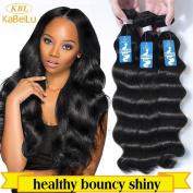 KBL(KaBeiLu) Brazilian Virgin Hair Loose Wave Human Hair Extensions 3 Bundles Natural Black