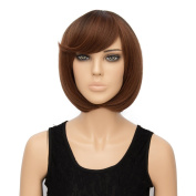Alacos Fashion Curly Wavy Synthetic Christmas Costumes Party Wigs for Men And Women +Wig Cap