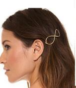 TS Bohemia Moon Shaped Gold Silver Hair Clip Hairpin Accessories Metal Barrettes Headwears for Womens