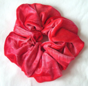 Strawberry Tie-Dye Velvet Hair Scrunchy-Large - Made in the USA