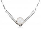 Fiorelli Silver Pearl Marquise Necklace of Length 46cm