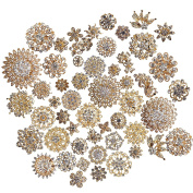 TOOKY Wholesale Lot 25pcs Rhinestone Crystal Brooches Brooch Pins Bouquet Kit